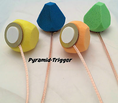 Pyramid Trigger - 35mm Piezo Trigger & Foam Pyramid Combo Electronic Drum Cone - Foam Cones