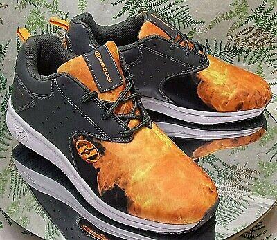 Orange Black Sneakers (HEELYS VELOCITY ORANGE BLACK SNEAKERS ROLLER SKATES SHOES US MENS SZ 8 UK 7 )