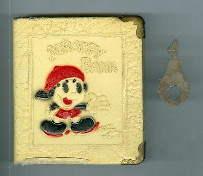 1931-1941 Original Scrappy Comic Character Metal Bank with Key