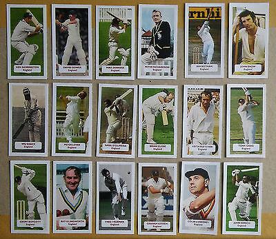 CRICKET - ENGLAND All 18 English cricketers - Score UK Champions trade card set