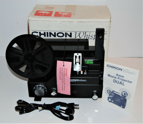 CHINON WHISPER DUAL 727 8mm Variable Speed Movie Projector  - New Belt
