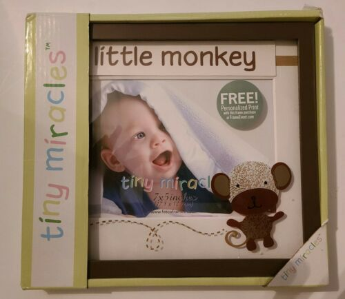 Tiny Miracles little bambino monkey picture frame 7x 5 brand new
