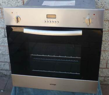 stainless steel, fan forced electric wall oven and grill