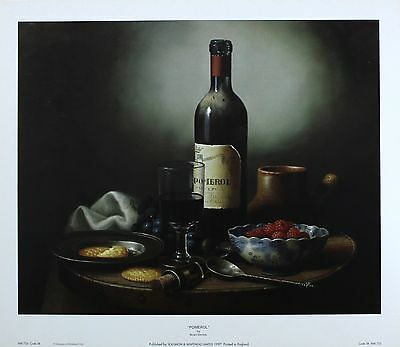 BRIAN DAVIES Pomerol wine 5000+ PRINTS IN OUR EBAY SHOP SIZE:33cm x 41cm  RARE