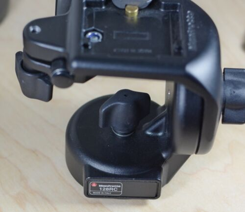 Manfrotto 128RC QR Micro Fluid Tripod Head with PLATE