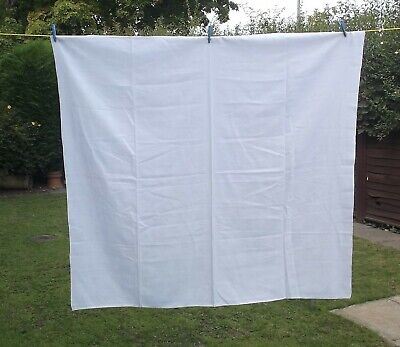 Vintage White Table Cloth Has a Few Marks Approx 54 x 51 ins Please Read