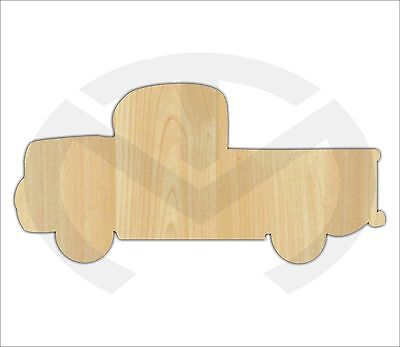 Unfinished Wood Vintage Truck Laser Cutout, Wreath Accent, Door Hanger