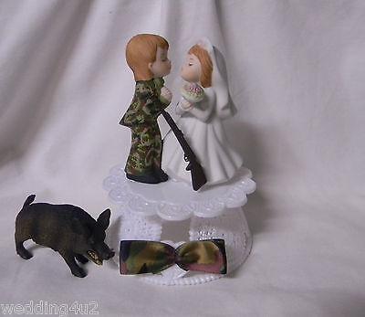 Wedding Reception Party ~Hog Hunter~ Camo Camouflage Groom Hunting Cake - Camouflage Wedding Cakes