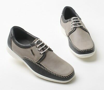 M-HOUSE Men Sneakers Shoes for Men Driving Moccasin Lace up Gray US SIZE 7.5
