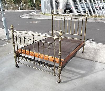 ANITIQUE HOSKINS & SEWELL BRASS DOUBLE BED    DELIVERY AVAILABLE