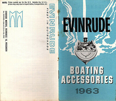 Boating Accessories Photos Prices 1963 Booklet  Evinrude Motors Milwaukee WI