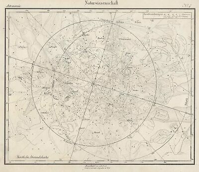 Star Map Original Lithography Map Herder 1840