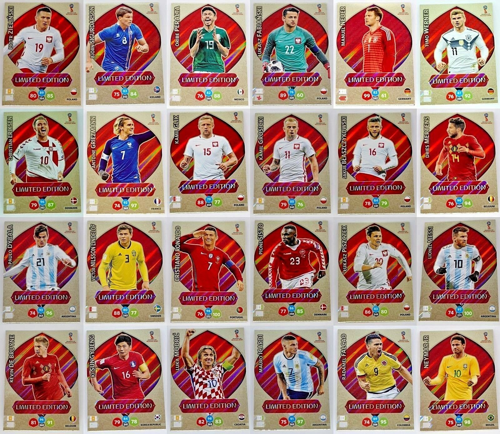 Panini FIFA World Cup Russia 2018 Adrenalyn LIMITED EDITION - aussuchen / choose