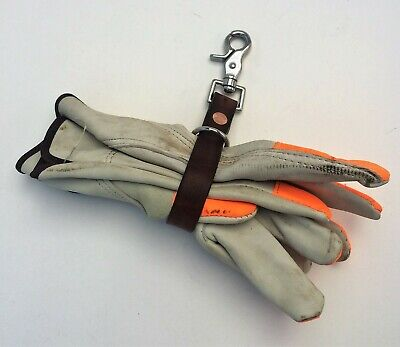 Leather Strap Glove Holder With Clip
