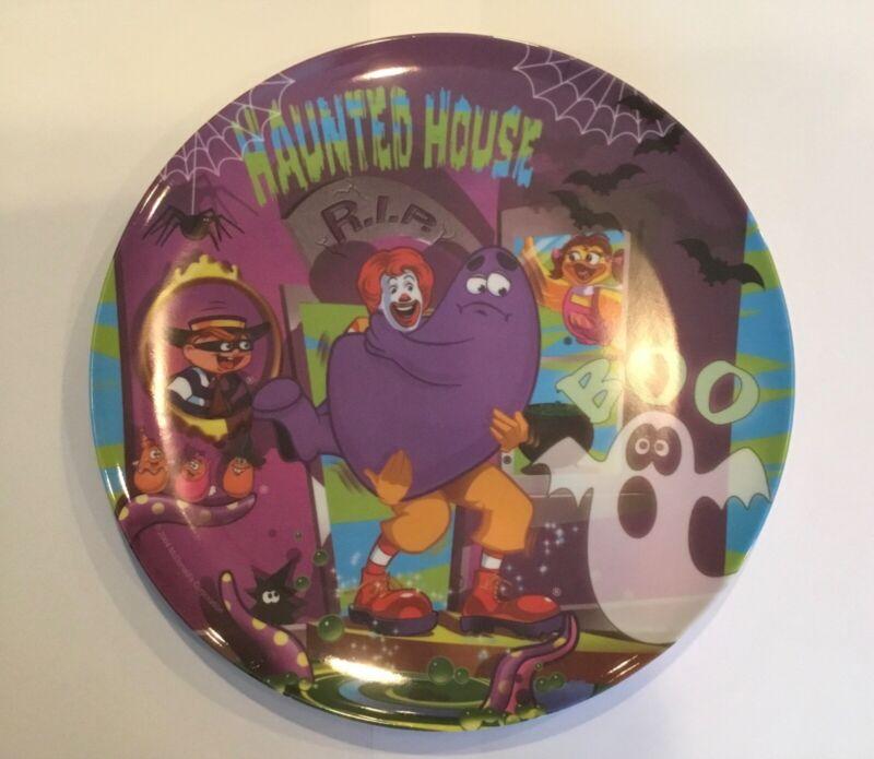 McDonalds 2004 Halloween Plastic Plate Haunted House