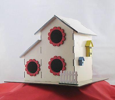 Two Story 3-Hole Bird House Kit