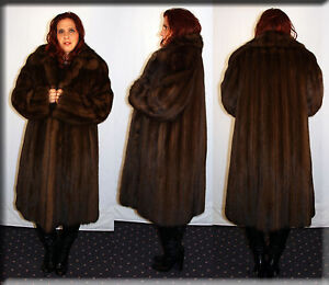 New-Reversible-Russian-Sable-Fur-Coat-Size-Large-10-12-L-Efurs4less