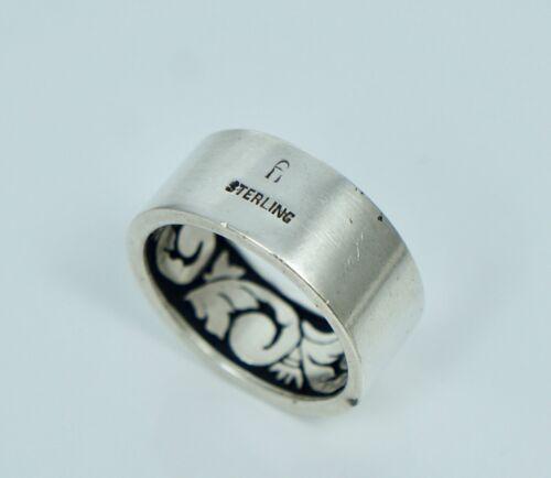 California Modernist Harold Fithian Sterling Ring Band Sz 9.5 MCM fi Wide