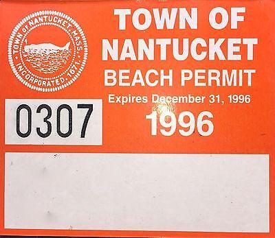 Vintage Nantucket Beach Permit Sticker