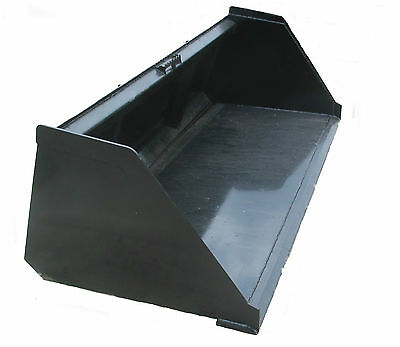 90 Snow And Litter Bucket Skidsteer Attachment Quick Attach Free Shipping