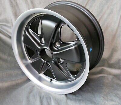 2 Maxilite Wheels for Porsche 911 7x15 black/diamond cut lip w/TÜV Diamond Black Painted Wheels