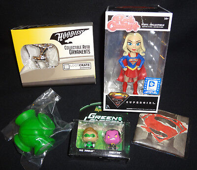 Funko DC Legion of Collectors LOOT CRATE Lot Rock Candy SUPERGIRL Green Lantern  (Green Rock Candy)