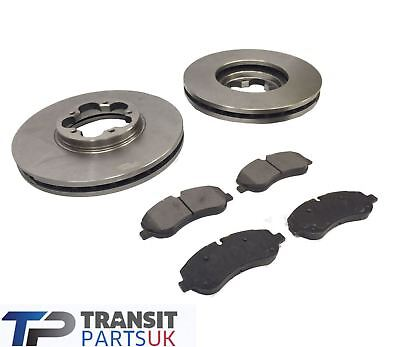 FORD TRANSIT MK8 CUSTOM FRONT BRAKE PADS AND DISCS 2.2 RWD SINGLE WHEEL 2012 ON
