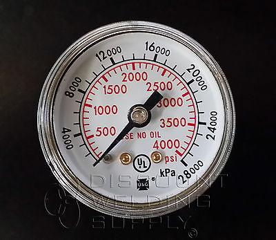 1-12 Usg Ametek Gauge 4000 Psi. Cbm For Victor Flowmeter New V-602