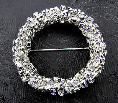 Deluxe Diamante Cluster Round Stock Pin - Dressage Show