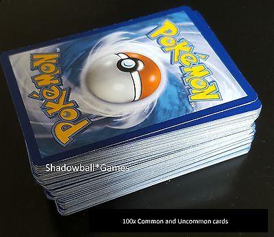 Pokemon* 100x Random Card Lot - Common & Uncommon - NM - Guardians included!