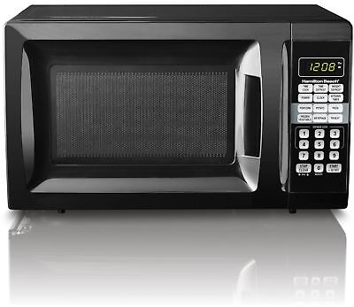 Microwave Oven 0.7 Cu. Ft. Black Countertop Small Compact Do