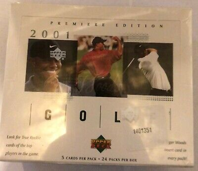 2001 Upper Deck Golf Factory Sealed Hobby Box Tiger Woods, Fresh From Case