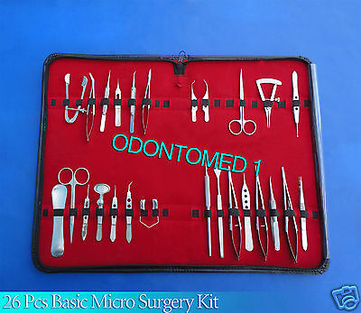 26 Pcs Basic Eye Micro Surgery Surgical Instruments Set Kit