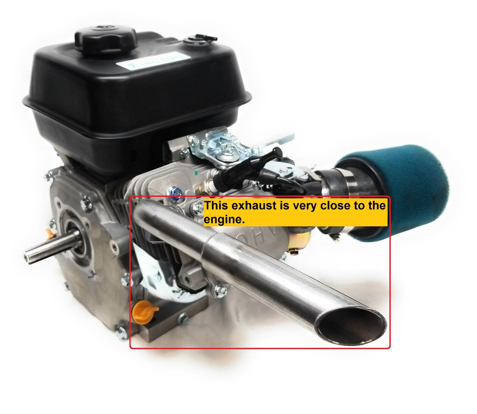 Low Profile Exhaust, Predator 212cc, Honda GX160, GX200. Go