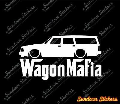 Lowered WAGON MAFIA sticker - for Volvo 240 , 245 station wagon