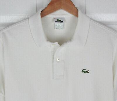 Lacoste, Men's 4 (S), S/S Polo Shirt, White