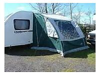 Apache caravan porch awning blue colour, used three times, in excellent condition.