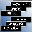CUSTOMIZED DESK & DOOR SIGNS AND NAME BADGES