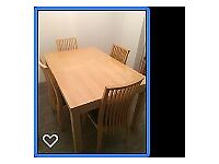 Dining table and sideboard