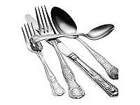 Stainless Steel Cutlery - Kings Patterns for Dinner Parties and events, to go with Catering Plates