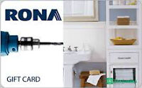 Rona gift cards for sale $95 for $80