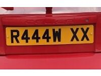 Number plate for sale R444W XX £500
