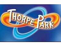 4 TICKETS TO THORPE PARK ON 20/8/2016