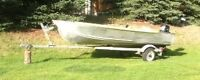 14' Harbercraft Aluminum boat with trailer and 9.8 motor