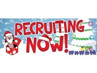 Christmas rush is now on! 18 - 30 New positions available