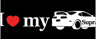 I Love Heart My Toyota Supra Decal Die Cut