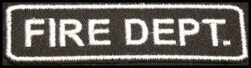 FIRE DEPARTMENT Iron-On Patch/Badge for T-Shirt/Cap/Bag Rescue Explorer Dept 25P