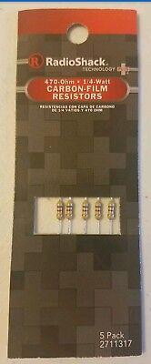 New Radioshack 470 Ohm 14 Watt Carbon-film Resistors 2711317 Free Shipping