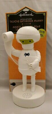 Halloween Motion Activated (NIP Hallmark Talking Bathroom Mummy Frank & FRIGHT Mummy Motion)