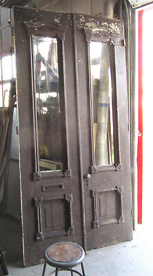 ~ TALL ANTIQUE DOUBLE ENTRANCE FRENCH DOORS ~ 56 X 113 ~ ARCHITECTURAL SALVAGE